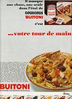 Publicité ancienne coucous Buitoni 1970 issue de magazine