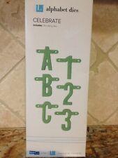 Quickutz/Lifestyle Crafts *CELEBRATE* Alphabet Dies *NEW*