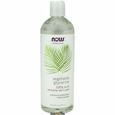 NOW 100% Pure Vegetable Glycerine Oil Versatile Skin Care, FRESH USA Made 16oz