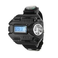 240LM Tactical Rechargeable LED Wrist Watch Flashlight Torch Lamp Light New I9O9