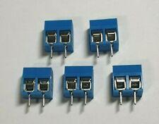 2-Pin Screw Terminal Block Connector - 5 Pack - PCB Mount - UK - Free P&P