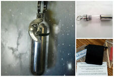 COMPLETE SET - Man In The Moon CREMATION URN  w/Necklace, Velvet Pouch, Fill Kit