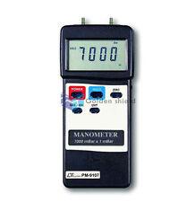 LUTRON PM-9107 Digital Manometer Dual&Differential Input 7000mbar Industrial
