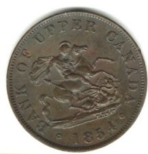 (Pgasteelers 1) Canada Province 1854 BR#720 1/2 Penny copper St.George & Dragon
