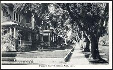 SANTA ANA California Postcard c 1920 - French Street Homes - Residential Scene