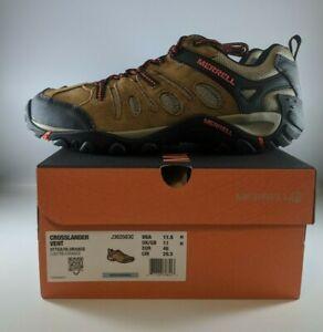 Merrell Crosslander Vent Mens Hiking Shoes Size 11.5 Otter/Orange J362583C