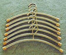 14 Vintage Mid Century Modern Brass Ribbon Design Clothes / Coat Hangers