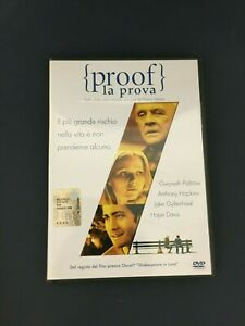 DVD PROOF LA PROVA PALTROW HOPKINS GYLLENHAAL DAVIS Come Nuovo (R)