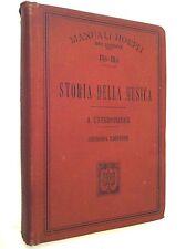 Manuali Hoepli Storia della musica Alfredo Untersteiner 1902