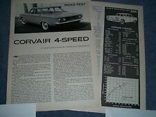 "1960 Chevy Corvair Vintage Road Test Info Article ""Corvair 4-Speed"""