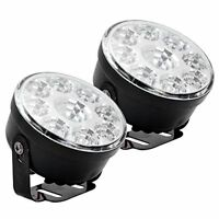 LED Lights DRL Round FRONT FOG Work Lamps Light Bar 4X4 4WD
