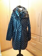 Joules rainmac size 14 Blue with white spots