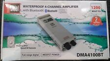 Dual DMA4100BT 1200 Watts 4 Channel Waterproof Marine Amplifier with Bluetooth