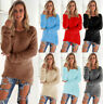 Women's Winter Long Sleeve Loose Knitted Sweater Cardigan Pullover Tops Outwear