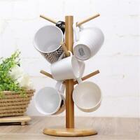 Wood Tree Mug Rack Coffee Tea Cup Holder Organizer Home Kitchen Display Stand H