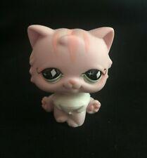 Littlest Pet Shop #460 Pink Persian Cat w/ Diamond Green eyes
