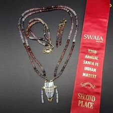 Rare MELANIE KIRK-LENTE 2nd Place SWAIA 14k GOLD Necklace Bracelet Earrings SET