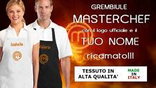 Grembiule Masterchef RICAMATO PERSONALIZZATO (non stampato) Idea Regalo!