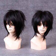 Handsome Boys Wig New Korean Fashion Short Men Natural Black Hair Cosplay Wigs+