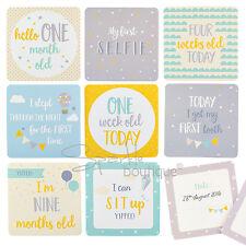 BABY MILESTONE CARDS -Unisex Design/Space To Log Dates- New Mum/Baby Shower Gift