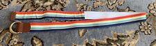 Striped Canvas Belt Size XL Unisex