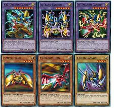 6 CARD XYZ, XZ + XY Fusion X Head Cannon Y Dragon + Z Metal Tank 1st Seto Yugioh