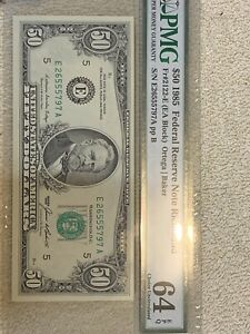 Fr. 2122-E $50 Fifty 1985 Federal Reserve Note Richmond 64 EPQ PMG Certified