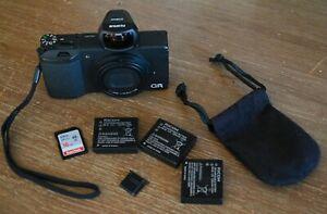 Ricoh GR 16.2MP Digital Camera - Black ~ Great Camera plus VF-X21 Viewfinder