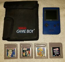 Nintendo Game Boy Pocket MGB-001 Game Console TESTED Blue