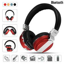 Pliable Sans Fil Hifi Stéréo NFC Bluetooth Casque Écouteur Headset Mic FM SD AUX