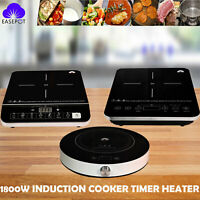 EASEPOT Portable Electric Induction Cooktop 1800W Cooker Countertop Hot Plates