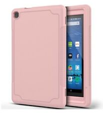 "Fire HD 8 (8"", 2016) Case Shockproof Defender Pink Soft Silicone + Hard Plastic"