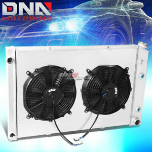 FOR 1981-1986 CHEVY C/K-SERIES 2-ROW PEFORMANCE ALUMINUM RADIATOR+COOLING FAN