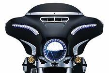 "Kuryakyn 7"" Chrome LED Halo Lights Headlight Bezel Trim Ring Harley Touring 6917"