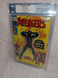 1971 The Avengers #87   ORIGIN OF BLACK PANTHER ~GRADED PGX 8.0~BEAUTIFUL COPY