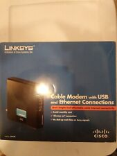 Linksys cable modem w/USB & Ethernet. Connections