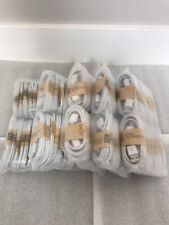Wholesale Bulk 100 Lot White Micro USB Charger Cable Cords for Samsung LG HTC s7