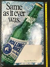 30 Inch Rolling Rock Beer Cardboard Sign Display!