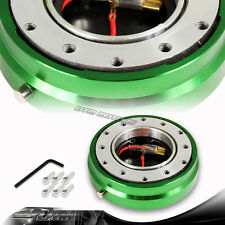 "1"" Green 6-Hole Steering Wheel Short Quick Release Hub Adapter Kit Universal 3"