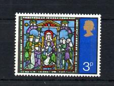3p CHRISTMAS 1971 UNMOUNTED MINT WITH EMBOSSING OMITTED Cat £15