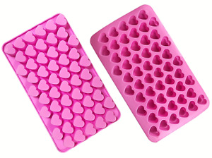 silicone mould heart shape chocolate candy jelly tray cake 55 hearts decoration