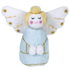 blue golden angel felt ornament fair trade handmade christmas tree decor - Handmade Angels Christmas Decorations