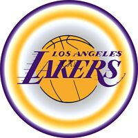 LA Lakers  NBA 7 Inch Edible Image Cake, Cupcake Toppers/ Party/ Birthday