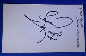 SEAN ROOKS dec 2016 autograph signed auto 3x5 Mavs LA Lakers Hawks +1992 -2004