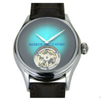 AD Hi beat tourbillon carroussel  Mens Watch Luxury Analog Gradient Dress