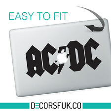 ACDC MacBook adesivi in vinile nero | Laptop Adesivi | MacBook Decalcomanie