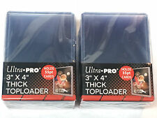 (50) Ultra Pro Thick 55pt Toploaders Action Packed Topload Card Holders 3x4 MLB