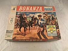 1964 MILTON BRADLEY BONANZA JUNIOR JIGSAW PUZZLE 100+ PIECES IN ORIGINAL BOX