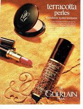 Publicité Advertising  0817  1993  Guerlain  maquillage Terracota perles