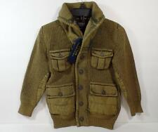 New Boy's $145 POLO Ralph Lauren Khaki Cardigan Knit Sweater, Sz 2T